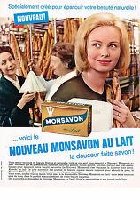PUBLICITE ADVERTISING  1963   MONSAVON   produit de beauté  savon