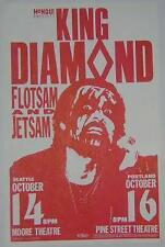 King Diamond Mercyful Fate Rare Original 1988 Portland Seattle Concert Poster