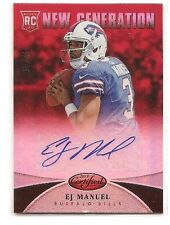 E.J. Manuel 2013 Certified Mirror Red Autograph 9/49 RC Auto