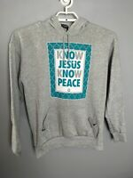 Christian Sweatshirt Know Jesus Know Peace Original Deluxe Brand Men's Medium M