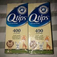 (2) Q-tips Baby Cotton Swabs 400 x 2 Count Lot Rare
