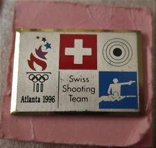 1996 ATLANTA Olympics SWISS SHOOTING TEAM NOC   Pin Badge