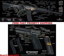 Glock & AR 15 Tek Mat 3D COLOR Cutaway Combo Set Gun Cleaning Bench Mats