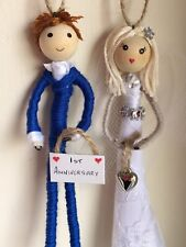 First Wedding Anniversary Gift Rustic Heart Mr And Mrs Bride Groom Personalised