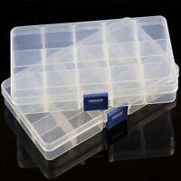 15/10/24 Slots Adjustable Storage Box Case Plastic Jewelry Craft Organizer Beads