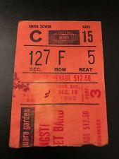 BRUCE SPRINGSTEEN TICKET STUB! 12-20-1980 - MADISON SQUARE GARDEN!