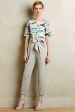 Anthropologie Pants Crops Bowtied Paperbag Cropped Summer By Cartonnier, Sz 14P