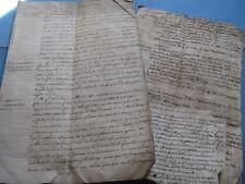 """MANUSCRIT JOLYCLERC """" RENONCIATIONS AUX SUCCESSIONS FUTURES"""" 1760 JURIDIQUE LYON"""