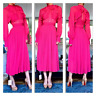 NWT Self Portrait Pleated and Paneled Fuchsia Midi Dress - Size US 0