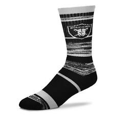 Oakland Raiders NFL RMC Crew Socks With Team Logo On Ankle Men's Size Large