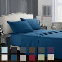 Brushed Microfiber Bed Sheet Set Hypoallergenic Bedding Sheets -4PCS Queen King