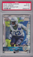 2015 Topps Chrome Pulsar Refractors #161 Alex Carter RC GRADED PSA 10