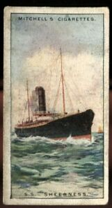 Tobacco Card, Mitchell, RIVER COASTAL STEAMERS, 1925, SS Sheerness, #61