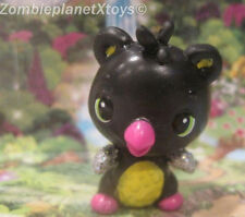 HATCHIMALS COLLEGGTIBLES  MINI FIGURE  BLACK YELLOW BEARKEET  BEARAKEET