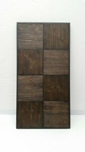 Solid wood (tiles) plus metal framing coffee table top (ONLY). Contemporary
