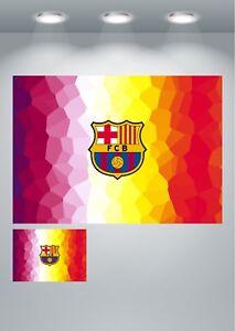 Barcelona FC Badge Logo Footaball Club Poster Art Print