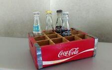 Mini cassetta Coca Cola 11x8 vintage collezione miniature bottigliette bottles
