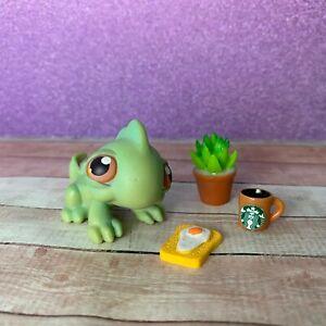 100% AUTHENTIC Littlest Pet Shop LPS #29 Green Iguana w Accessories