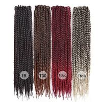 Synthetic Crochet Ombre Micro Box Braids Extensions Straight Braiding Hair Bulk