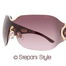 Chopard Shield Sunglasses SCH883S 08FC Bronze/Burgundy 883