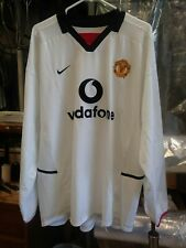 Authentic Nike 2002 Manchester United Beckham L/S Jersey XL