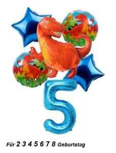 Dinosaurier Folienballon XXL Dino Tiere T-Rex Ballons 6x Sets Junge Geburtstag