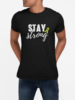 Stay Strong T Shirt Mental Health Anxiety Depression Awareness Lime Ribbon Tee