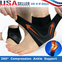 Adjustable Sports Compression Elastic Ankle Brace Support Protector Foot Wrap