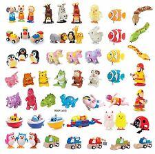 CLOCKWORK TOYS Traditional Wind Up Zoo Wild Animals Pet Train Kids Toy Gift UK