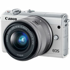 Canon EOS M100 Mirrorless Digital Camera with 15-45mm Lens (White) 2210C011
