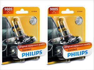 2x NEW PHILIPS STANDARD OEM HALOGEN 9005 HB3 HEADLIGHTS FOG LIGHT 9005B1
