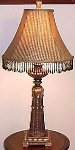 Black Beaded Florentine Table Lamp by Dale Tiffany
