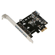 4 Port USB 3.0 PCI-E PCIe PCI Express Expansion Card For Desktop Super-Speed