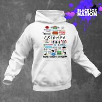 Friends TV Show Pattern Hoodie Long Sleeve Pullover Friends TV Unisex Clothing