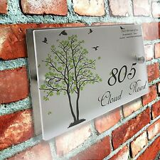 Acrylic Glass Modern House Number Personalized Door Sign Plaque Street Address