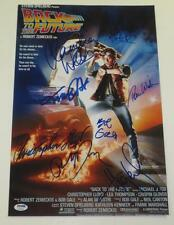 BACK TO THE FUTURE CAST SIGNED 12X18 PHOTO POSTER MICHAEL J FOX 8 SIGNATURES PSA