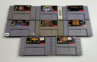 Super Nintendo (SNES) Lot Of 8 Games (Tested Working) Show Heavy Wear DK NBA WWF