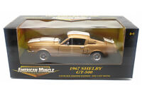 1967 Shelby GT-500 (1:18) Gold w/White Stripes Diecast, by Ertl (#36421A) - USED