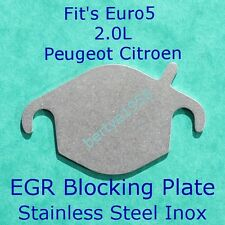 EGR valve blanking plate Peugeut Citroen HDi 2.0L Euro5 DW10CTED4 Engine