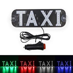 Car Interior Light Panel Taxi Driver Warningsign LED Indicator USB Switch