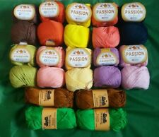 job lot 24x50g balls passion 5 ply dk cotton yarn 12 colours sm craft project