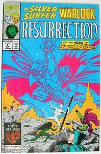 Comic Book - Marvel - The SILVER SURFER WARLOCK RESURRECTION - #4 Jun 1993