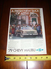 1979 CHEVROLET MALIBU - ORIGINAL AD