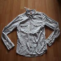 NEU Nudie Jeans,  Jeans Hemd Denim Shirt Jonis Western Herringbone Black/Sand M