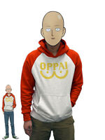 One Punch Man Hero Saitama Oppai Cosplay Costume Hooded Jacket Sweater Hoodie