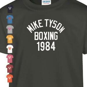 Mike Tyson Legend Boxing 1984 Cool kid Inspired T Shirt Gym Training MMa Gift