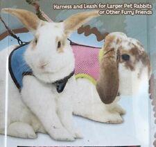 SUPER PET Pink Polka Dot Comfort Harness And Leash Larger Rabbits