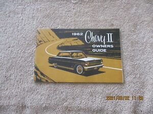 NEW REPRINTED 1962 CHEVROLET CHEVY 2, NOVA, STATION WAGON OWNERS MANUAL