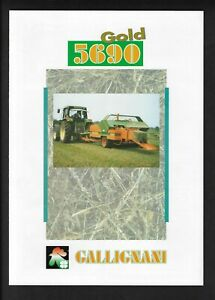 GALLIGNANI 5690 GOLD SQUARE BALERS 4 PAGE BROCHURE