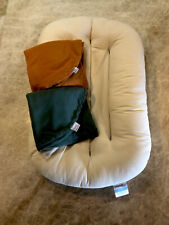 Snuggle Me Organic Baby Lounger Pillow With Two Covers